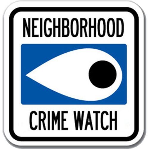 Crime Watch Meeting January 17th @ 4pm